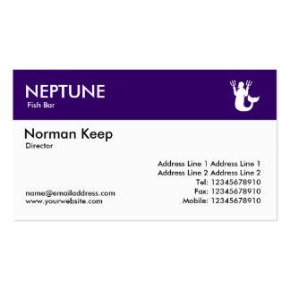 Jefe del color - Deep Purple - Neptuno Tarjetas De Visita