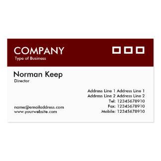 Jefe del color - marrón oscuro v2 tarjetas de visita