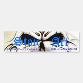 Jefe del cráneo, Stoic, arte, retratos, murales, C Pegatina Para Auto