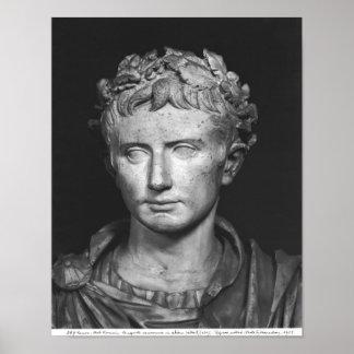 Jefe del emperador Augustus Póster