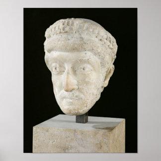 Jefe del emperador Theodosius II Póster