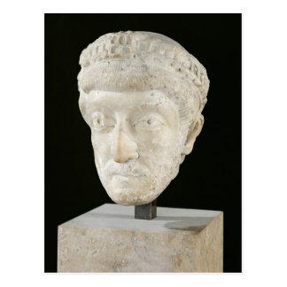 Jefe del emperador Theodosius II Postal