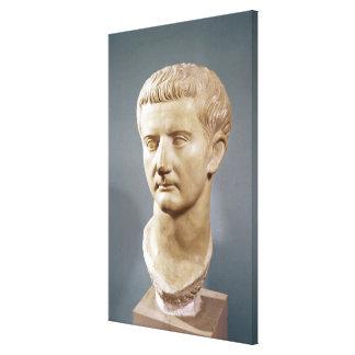 Jefe del emperador Tiberius Impresión En Lienzo