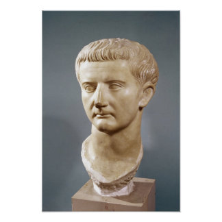 Jefe del emperador Tiberius Póster