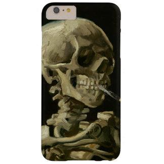 Jefe del esqueleto con el cigarrillo de Van Gogh Funda De iPhone 6 Plus Barely There