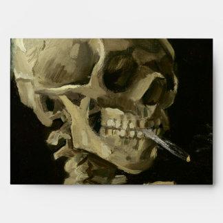 Jefe del esqueleto con el cigarrillo de Van Gogh Sobres