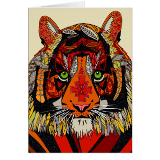 jefe del tigre natural felicitacion