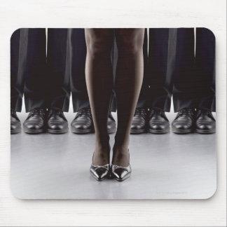 Jefe femenino para los hombres de negocios mouse pads