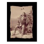 Jefe grande de Ponka del nativo americano del Postal