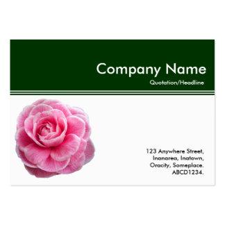 Jefe III del color - camelia rosada - verde oscuro Tarjetas De Visita