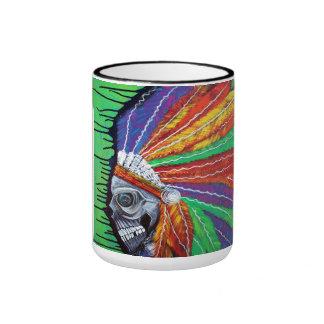 Jefe indio americano tazas de café