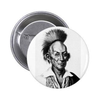 Jefe indio de Sauk del halcón del saco negro del Pins