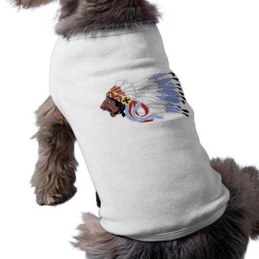 Jefe indio de Siux Playera Sin Mangas Para Perro