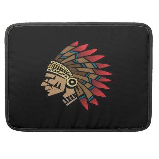 Jefe indio del nativo americano fundas para macbook pro