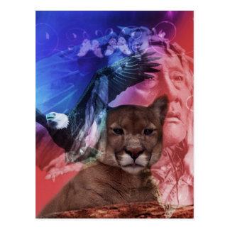 Jefe indio del nativo americano postal