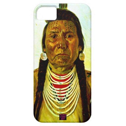 Jefe indio nativo gruñón iPhone 5 carcasas