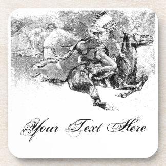 Jefe indio que carga en caballo: Oeste salvaje ame Posavaso