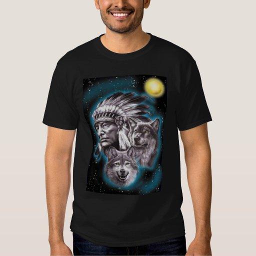 Jefe indio y camisa de los lobos