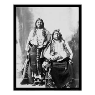Jefe indio y esposa 1884 de Tonkawa Impresiones