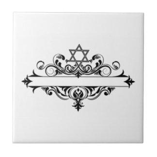 Jefe judío del vintage azulejos