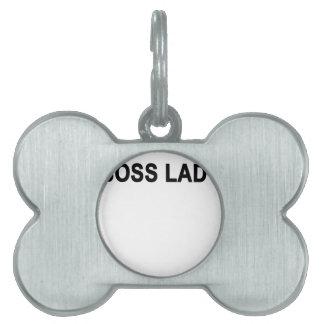 jefe lady.png placa de nombre de mascota