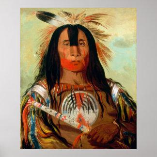 Jefe principal de la guerra de los indios de la posters