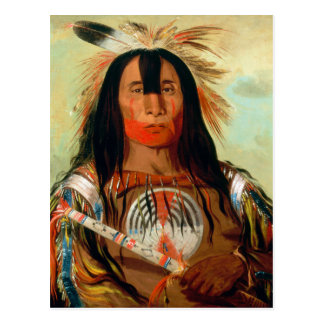 Jefe principal de la guerra de los indios de la postal