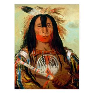 Jefe principal de la guerra de los indios de la tarjetas postales
