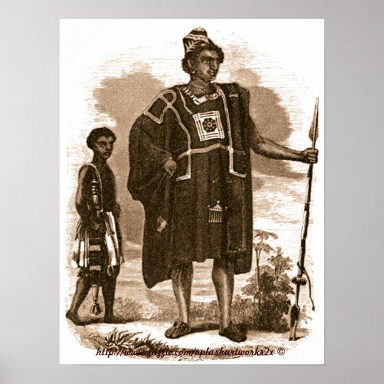 Jefe y espada portador-Liberia del mandingo del Póster