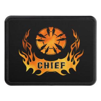 Jefes de bomberos de las llamas tapas de remolque