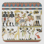 Jefes de Nubian que traen presentes Calcomanías Cuadradass Personalizadas