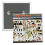 Jefes de Nubian que traen presentes Pin Cuadrada 5 Cm