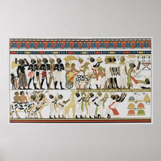 Jefes de Nubian que traen presentes Póster