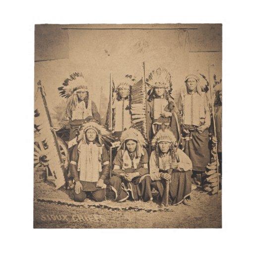 Jefes del oeste salvajes 1895 de Siux de la demost Blocs