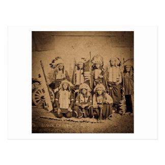 Jefes del oeste salvajes 1895 de Siux de la Tarjetas Postales