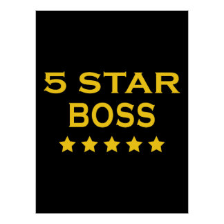 Jefes frescos divertidos: Cinco estrella Boss Póster