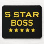 Jefes frescos divertidos: Cinco estrella Boss Alfombrillas De Raton
