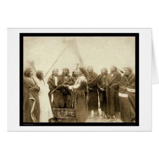 Jefes indios con las millas generales SD 1891 Felicitación