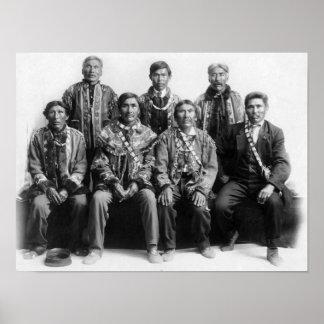 Jefes indios de la fotografía de Alaska Póster