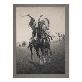 JEFES indios, impresión fotomecánica, vintage Postales