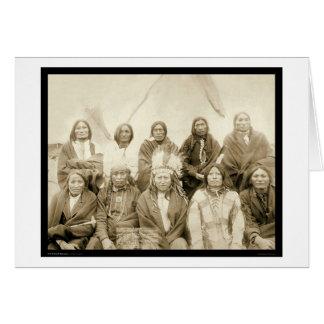 Jefes indios SD 1891 de la agencia de Ridge del pi Felicitación