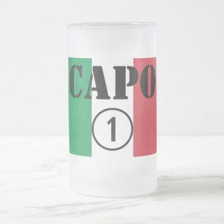 Jefes italianos: Uno de Numero de la ceja Taza De Cristal
