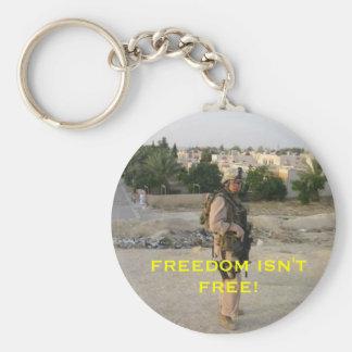 jeff4, FREEDOM ISN'T FREE! Basic Round Button Keychain