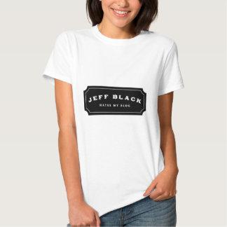 Jeff Black Hates My Blog (black logo) Tee Shirts