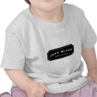 Jeff Black Hates My Blog (black logo) Shirts