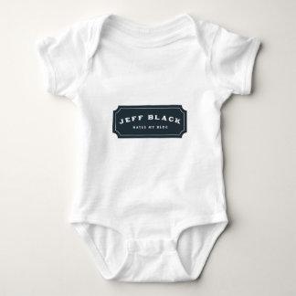 Jeff Black Hates My Blog (blue logo) Baby Bodysuit