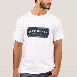 Jeff Black Hates My Blog (blue logo) T-Shirt