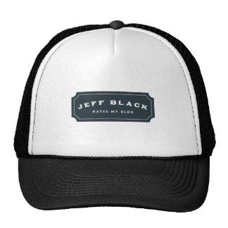 Jeff Black Hates My Blog (blue logo) Trucker Hat