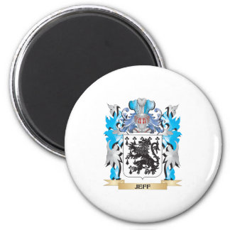 Jeff Coat of Arms - Family Crest Fridge Magnets