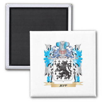 Jeff Coat of Arms - Family Crest Refrigerator Magnets